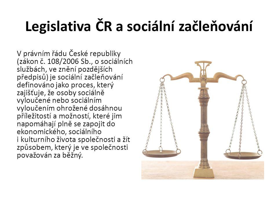 Legislativa ČR a sociální začleňování