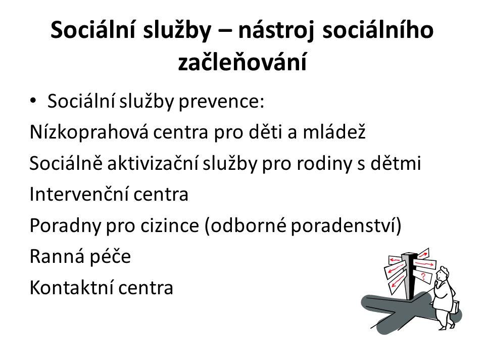 Sociální služby – nástroj sociálního začleňování