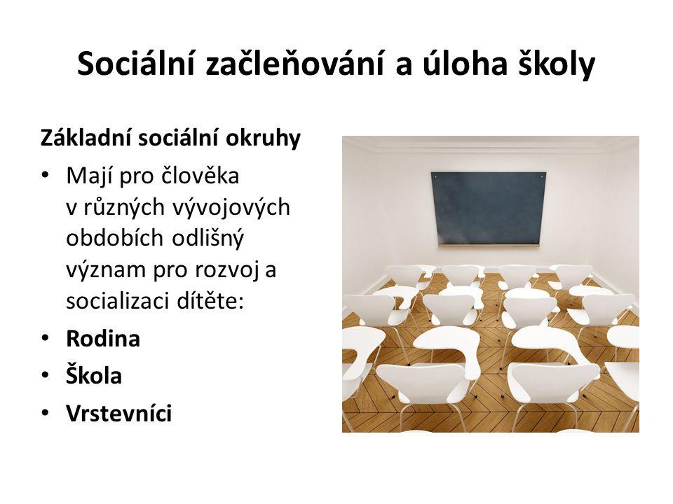 Sociální začleňování a úloha školy