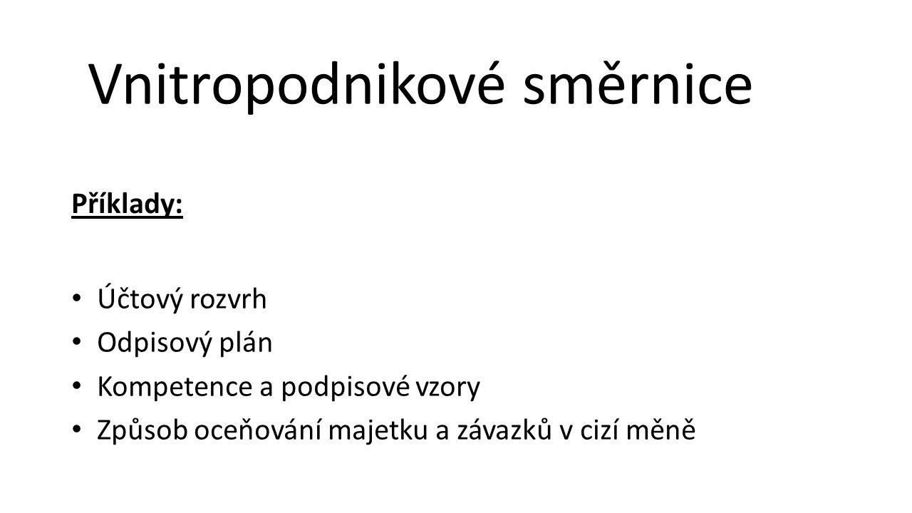 Vnitropodnikové směrnice