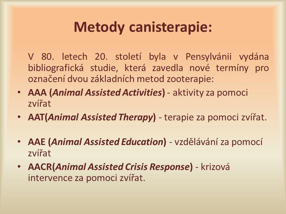 Metody canisterapie: