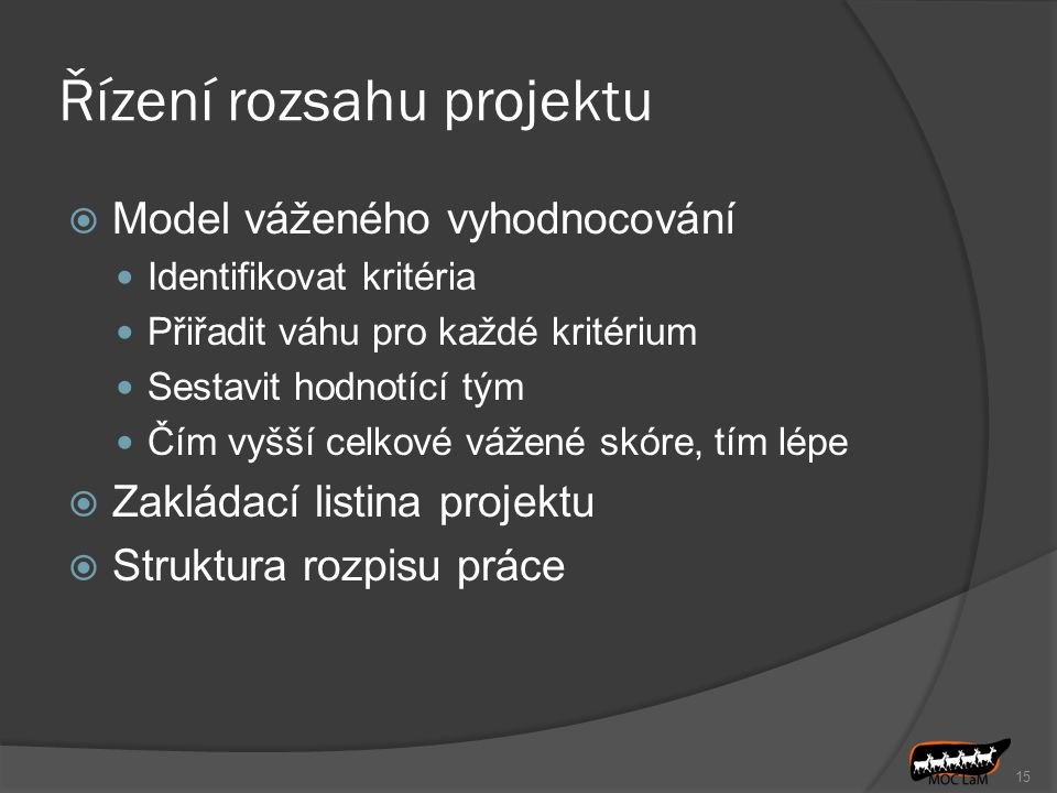 Řízení rozsahu projektu