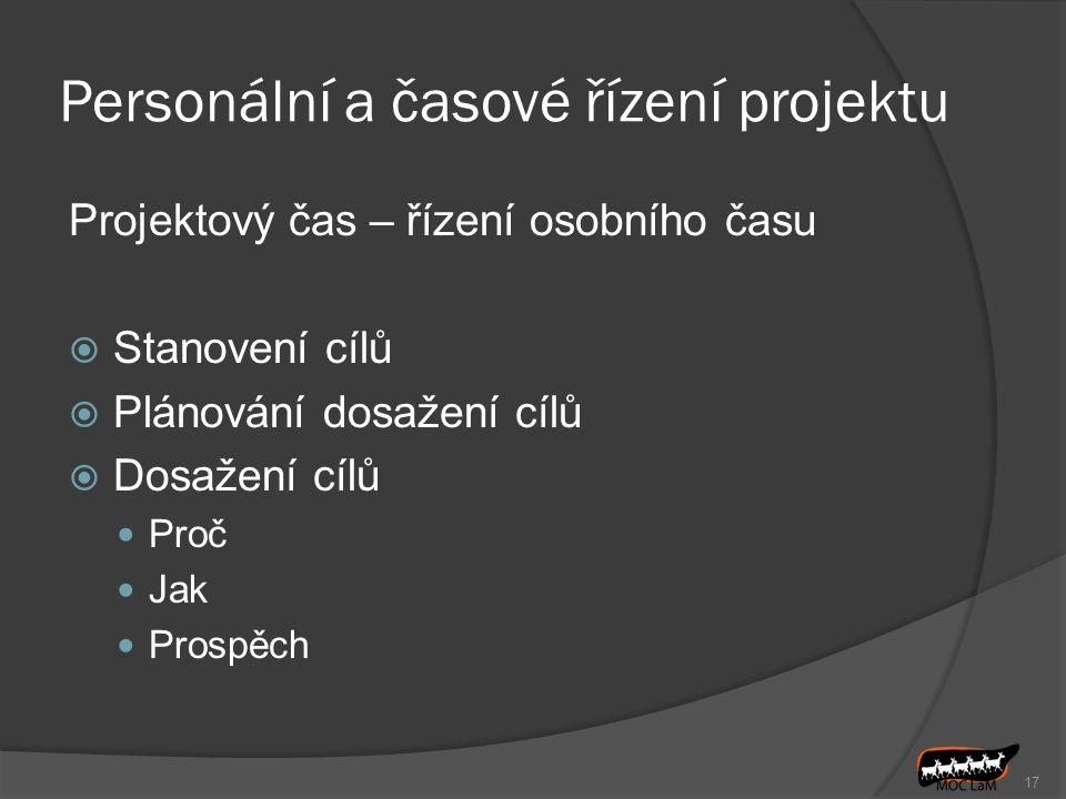 Personální a časové řízení projektu