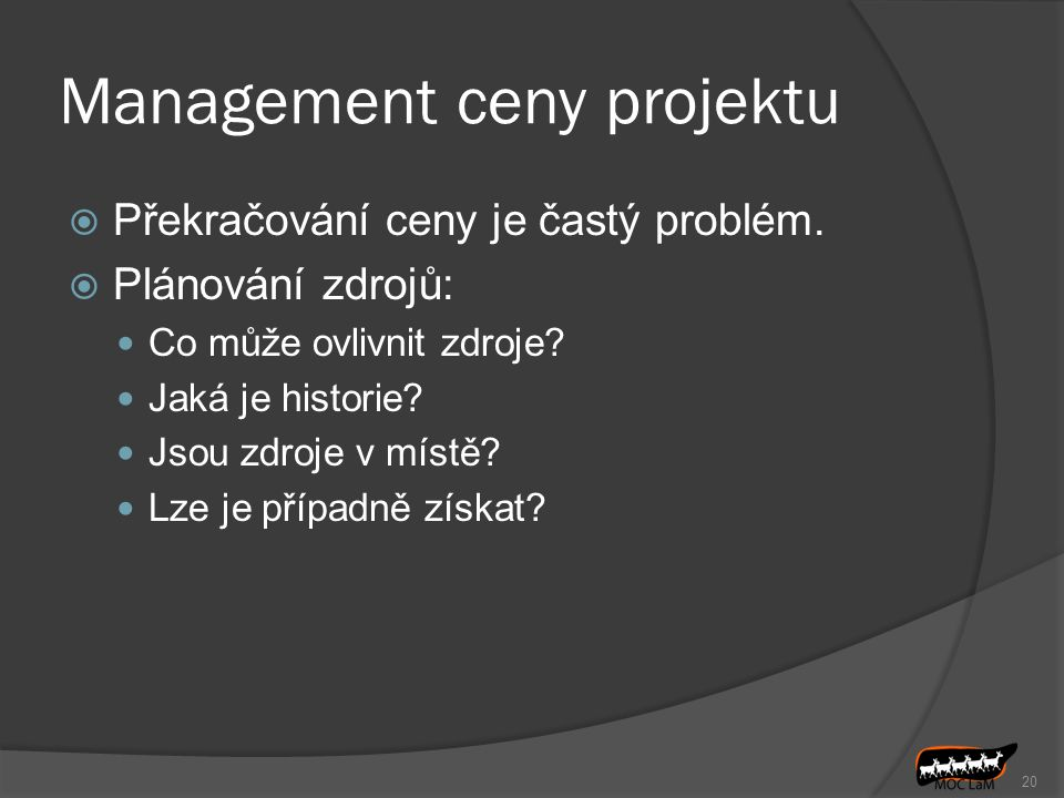 Management ceny projektu