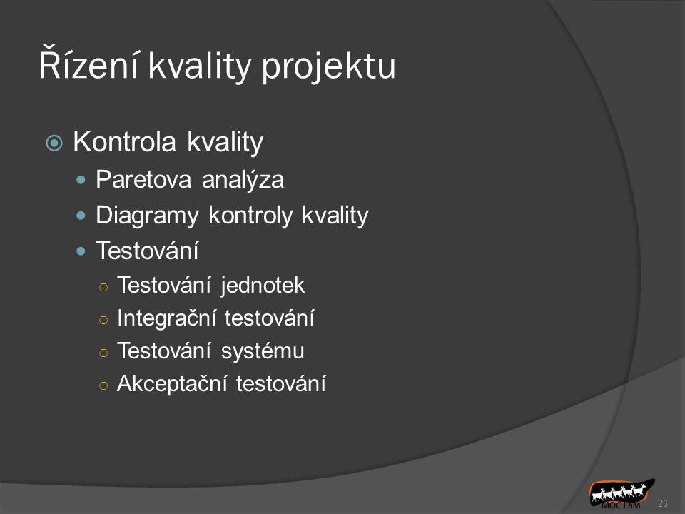 Řízení kvality projektu