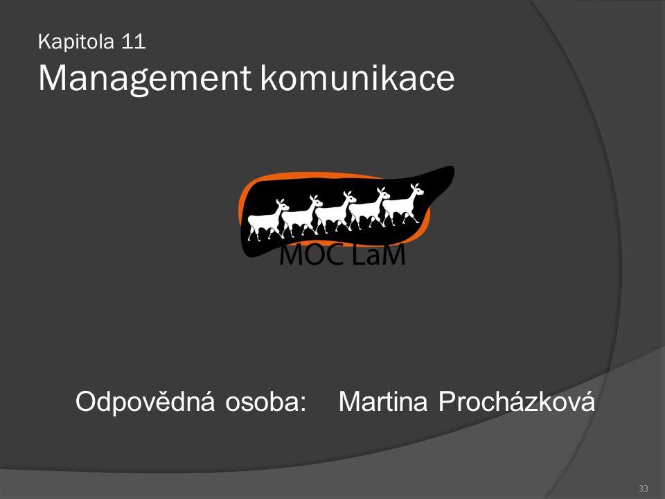 Kapitola 11 Management komunikace