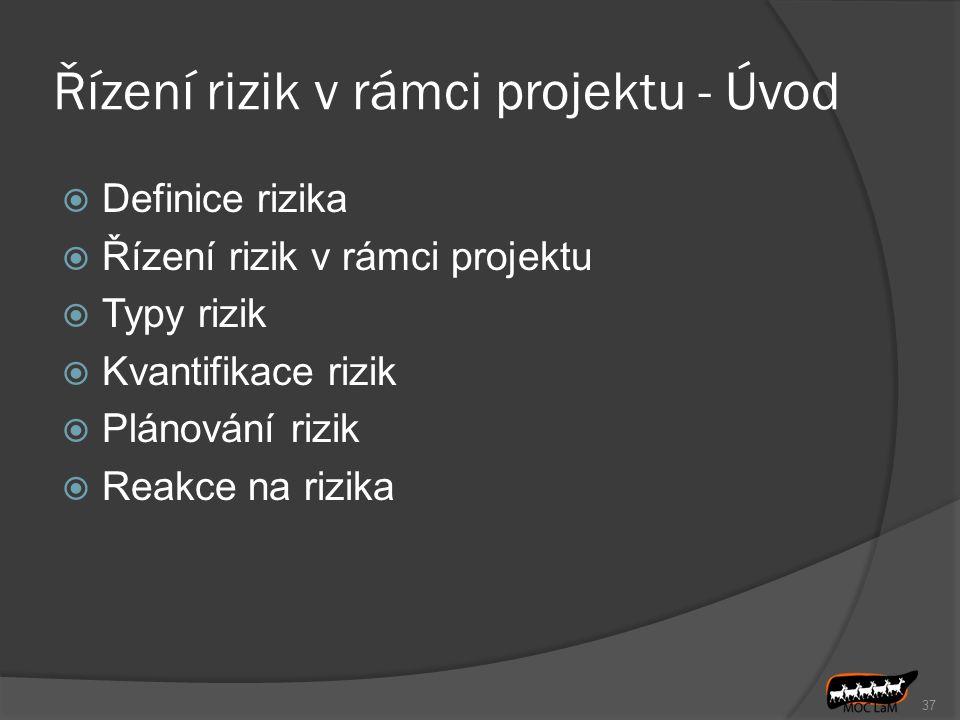 Řízení rizik v rámci projektu - Úvod
