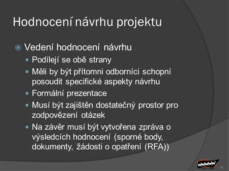 Hodnocení návrhu projektu