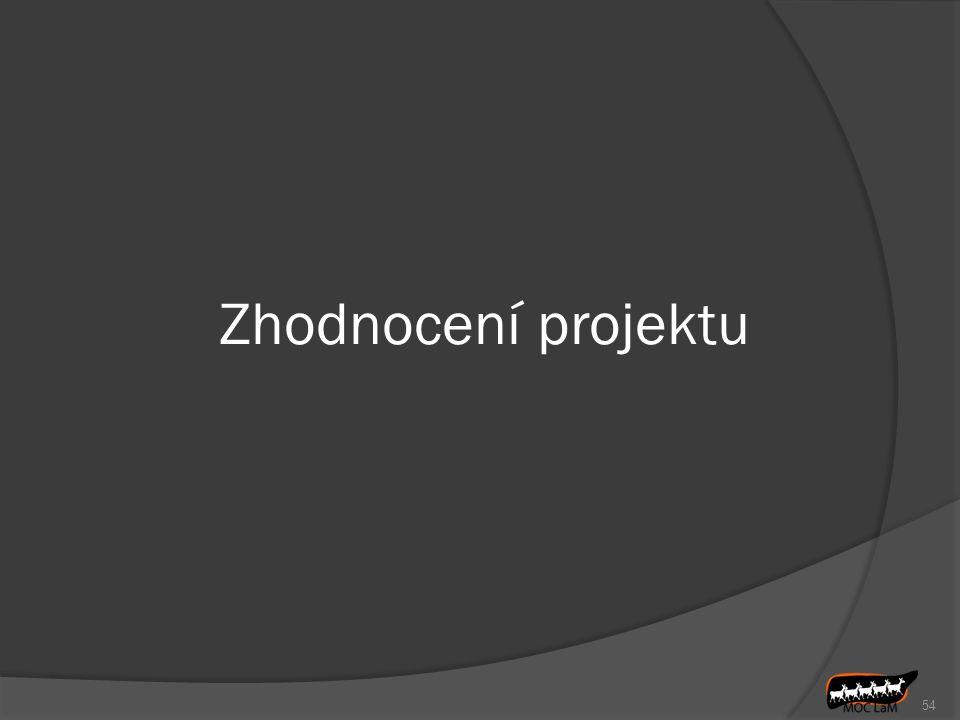 Zhodnocení projektu