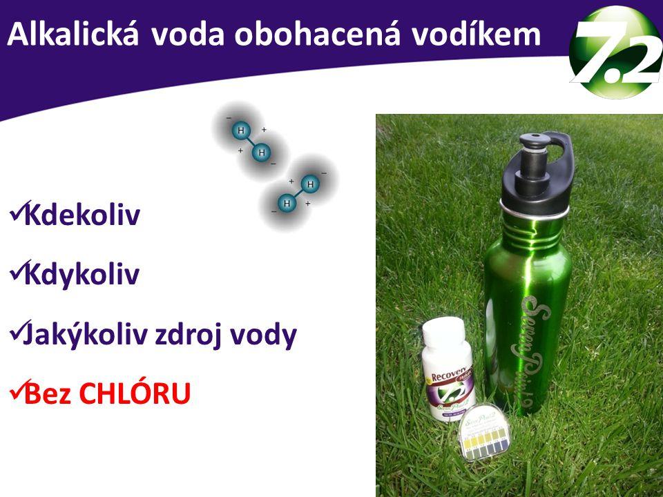 Alkalická voda obohacená vodíkem