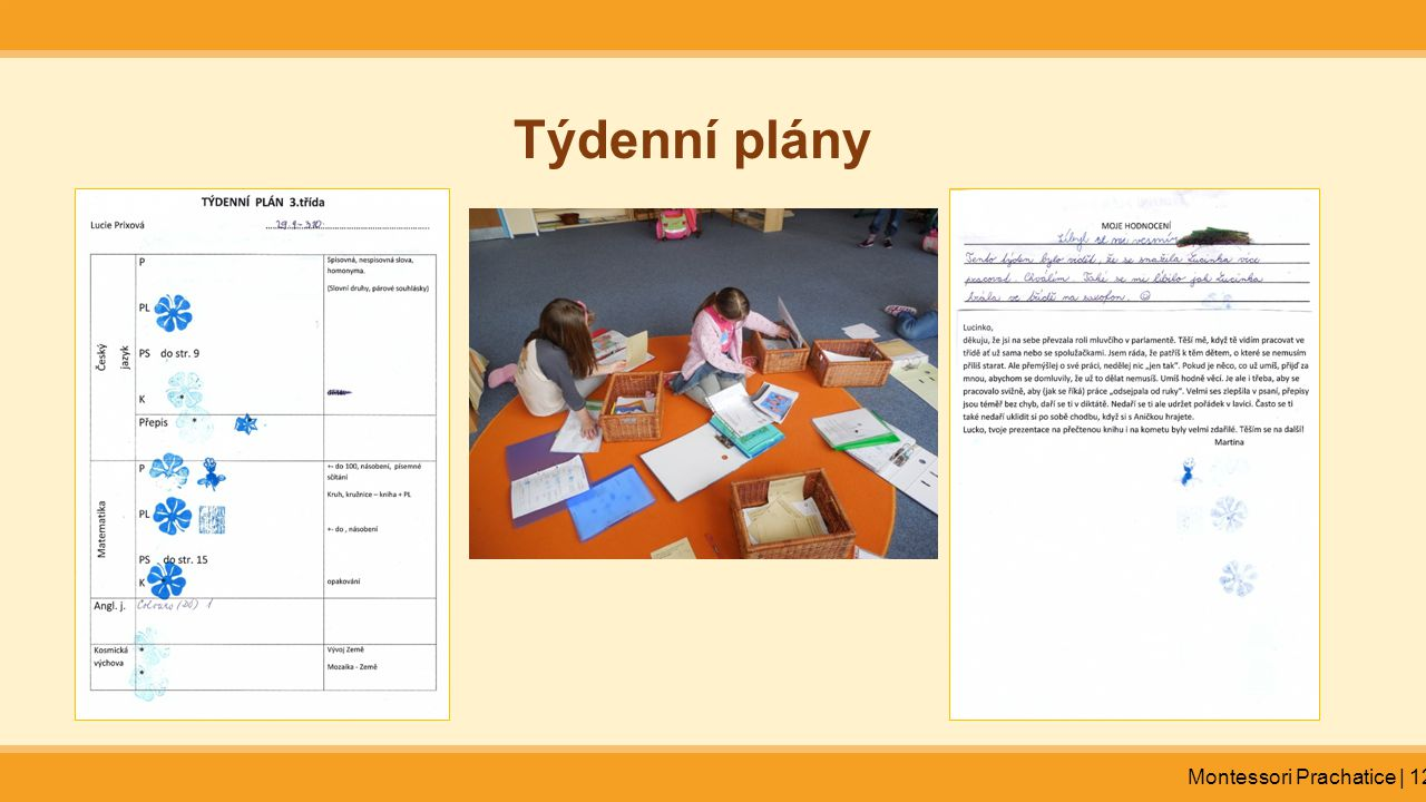 Týdenní plány Montessori Prachatice | 12