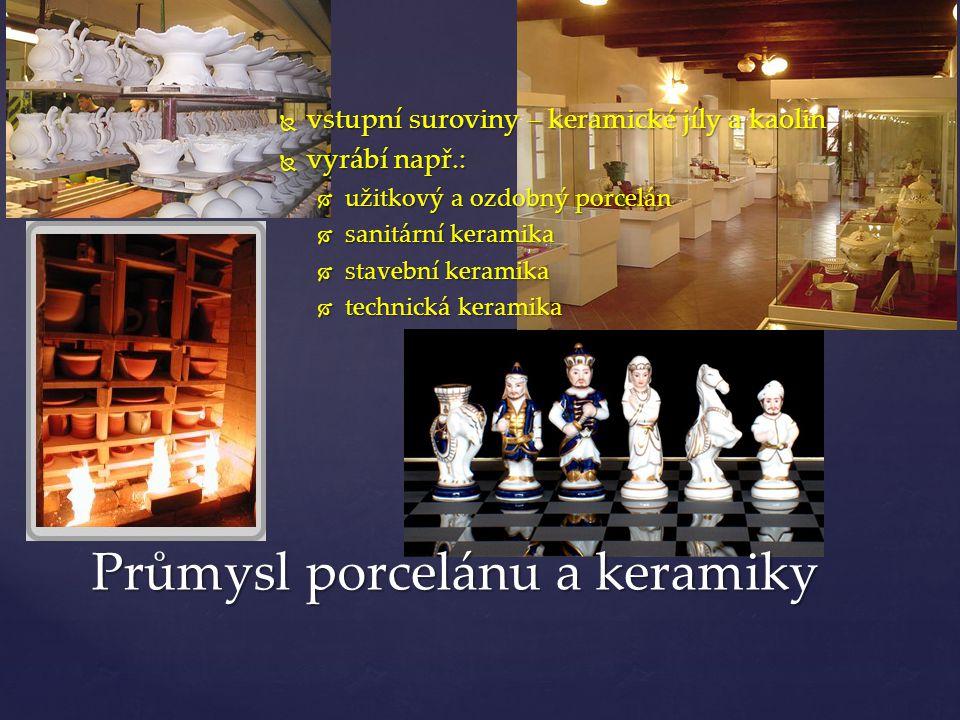 Průmysl porcelánu a keramiky
