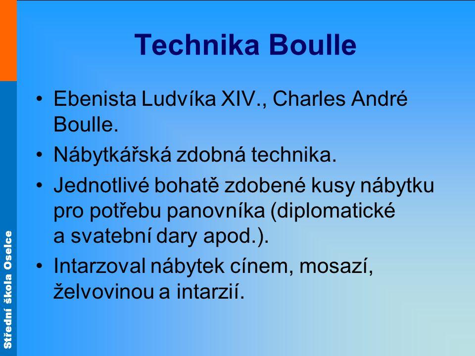 Technika Boulle Ebenista Ludvíka XIV., Charles André Boulle.