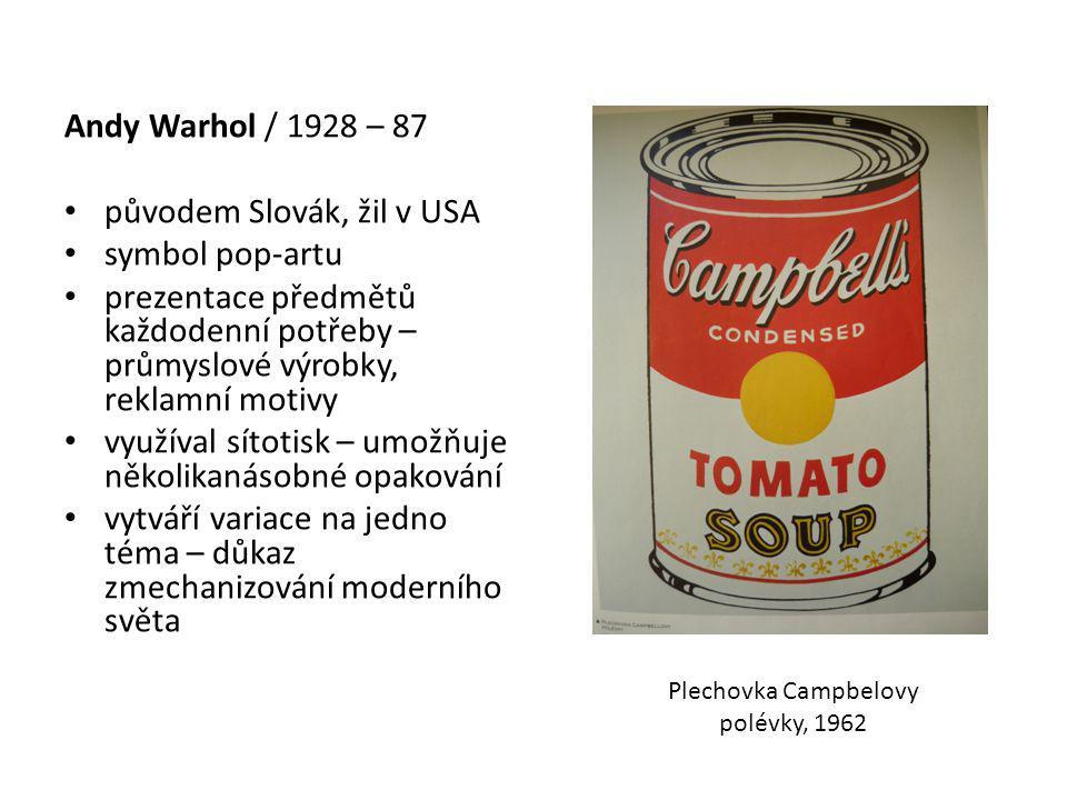 Plechovka Campbelovy polévky, 1962