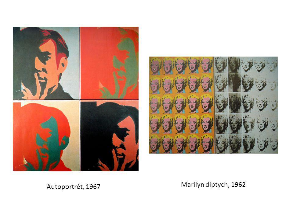 Marilyn diptych, 1962 Autoportrét, 1967