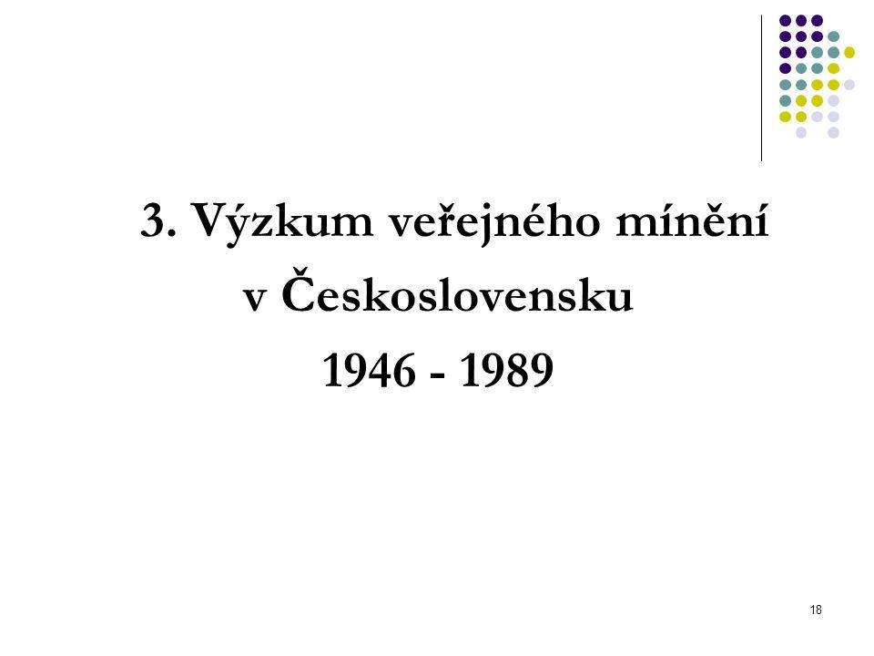 3. Výzkum veřejného mínění