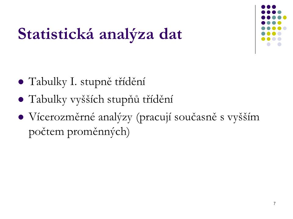 Statistická analýza dat