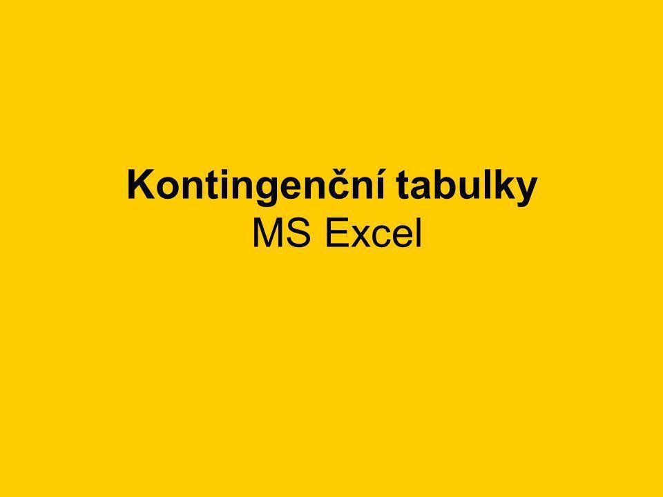 Kontingenční tabulky MS Excel
