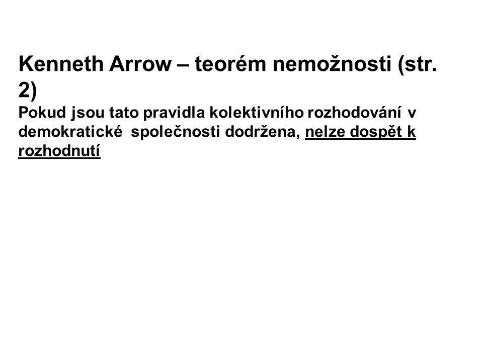Kenneth Arrow – teorém nemožnosti (str. 2)