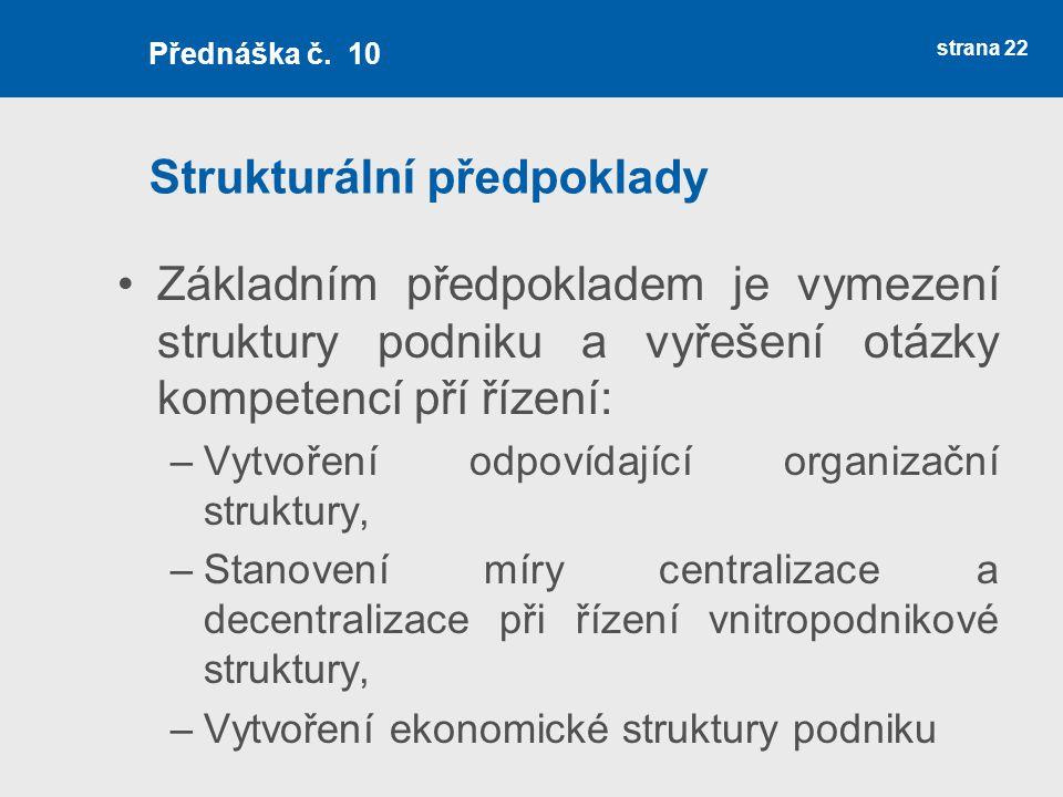 Strukturální předpoklady