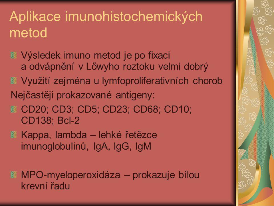 Aplikace imunohistochemických metod
