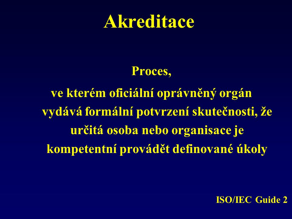 Akreditace Proces,