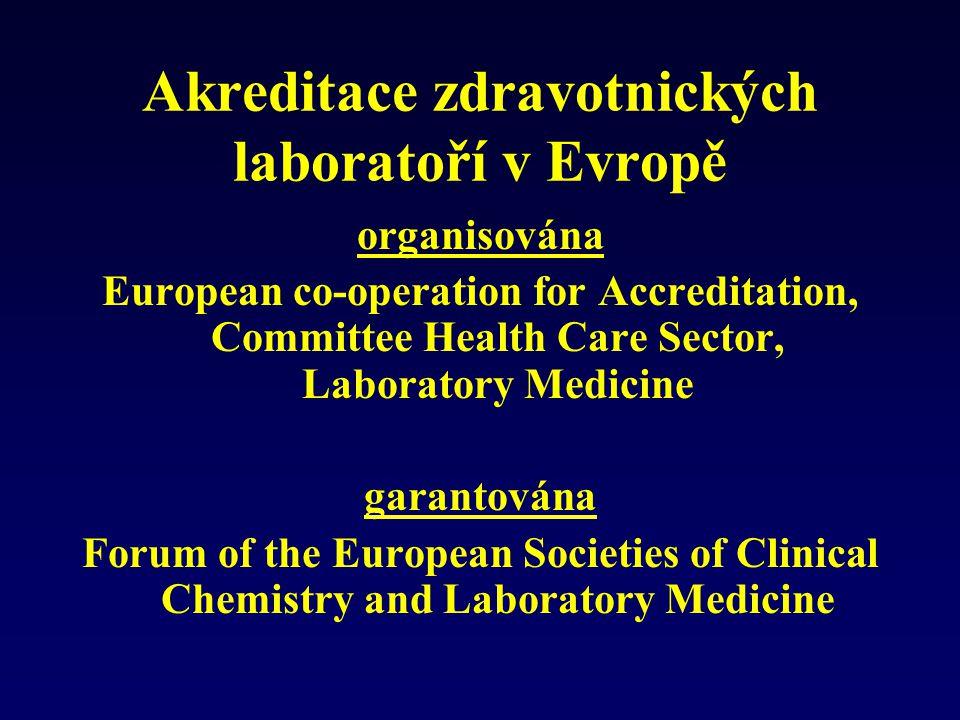 Akreditace zdravotnických laboratoří v Evropě