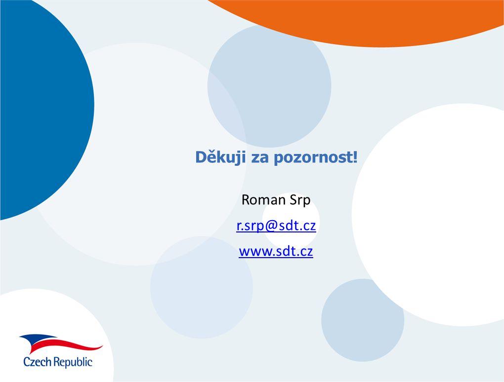 Děkuji za pozornost! Roman Srp r.srp@sdt.cz www.sdt.cz