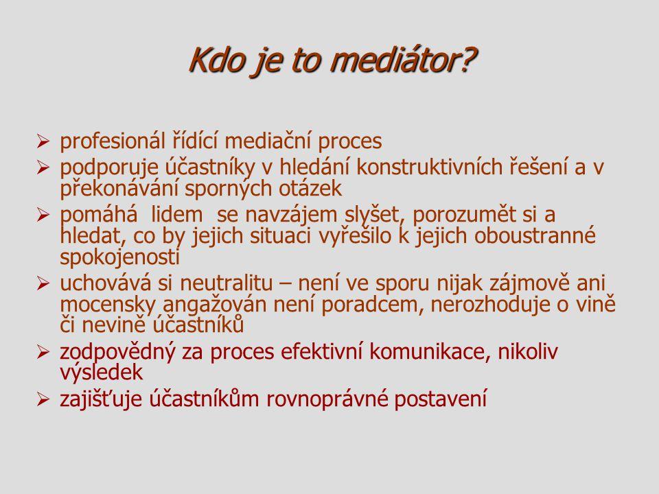 Kdo je to mediátor profesionál řídící mediační proces