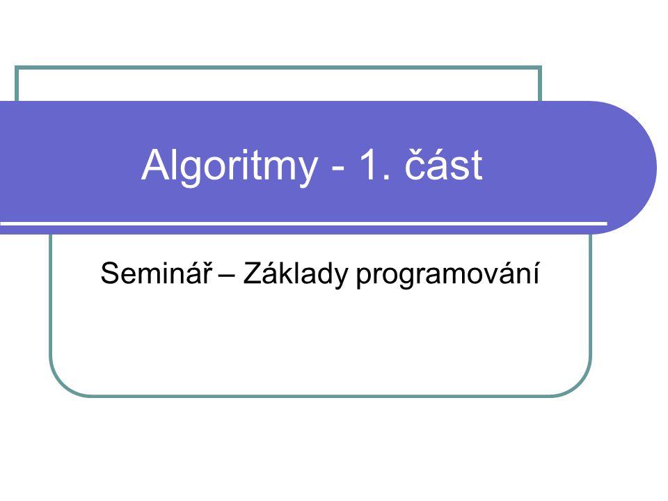 Seminář – Základy programování