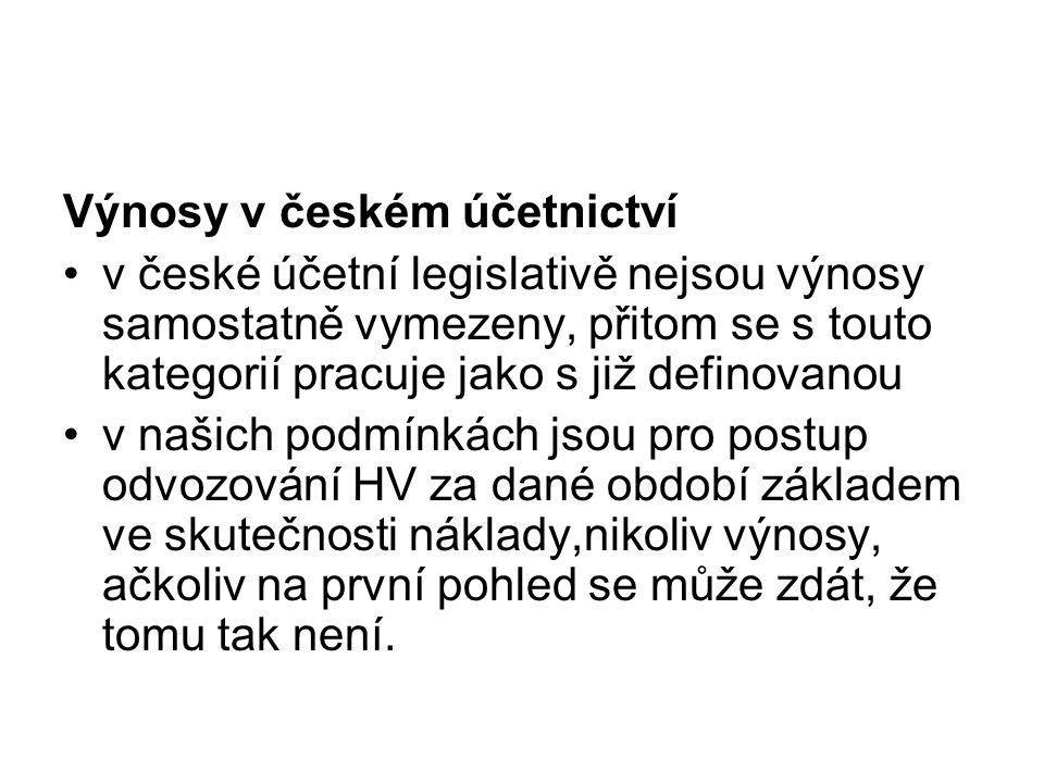 Výnosy v českém účetnictví
