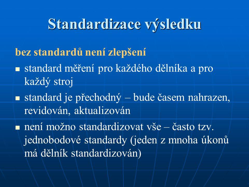 Standardizace výsledku