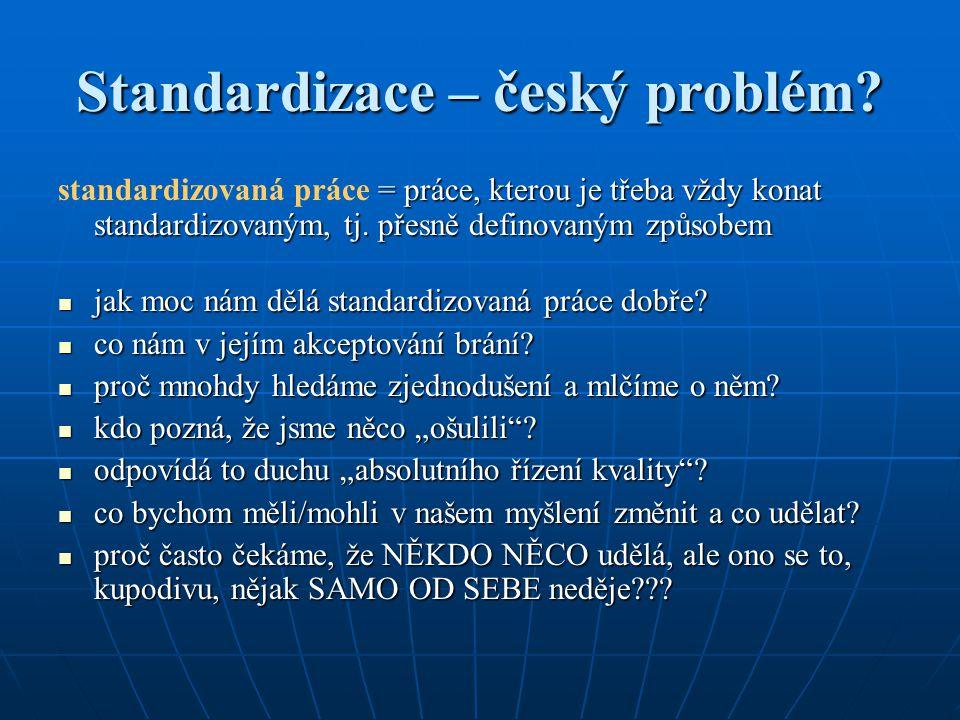 Standardizace – český problém