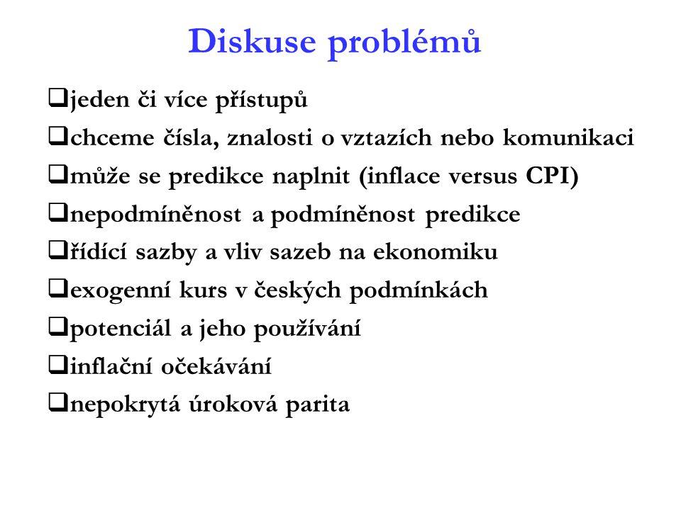 Diskuse problémů jeden či více přístupů