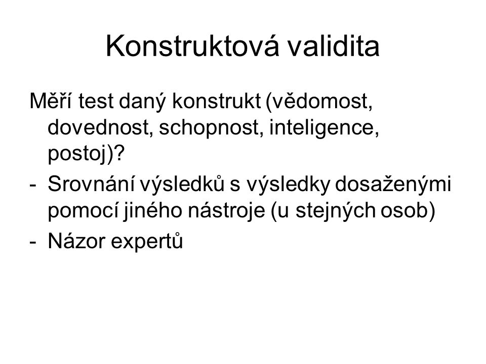 Konstruktová validita