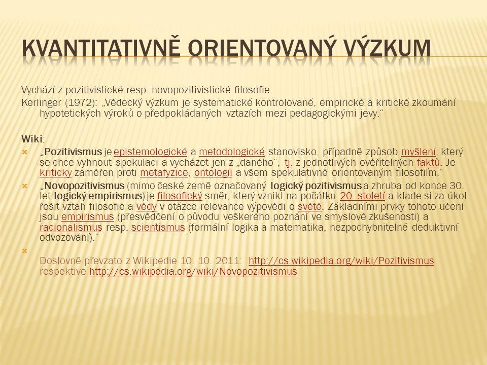 Kvantitativně orientovaný výzkum