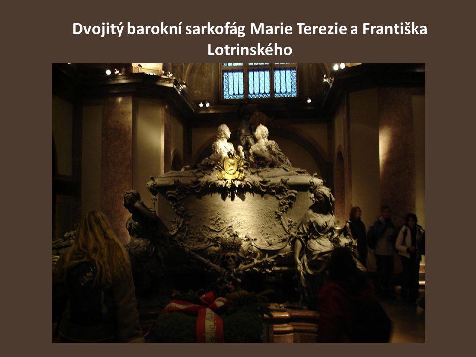 Dvojitý barokní sarkofág Marie Terezie a Františka Lotrinského