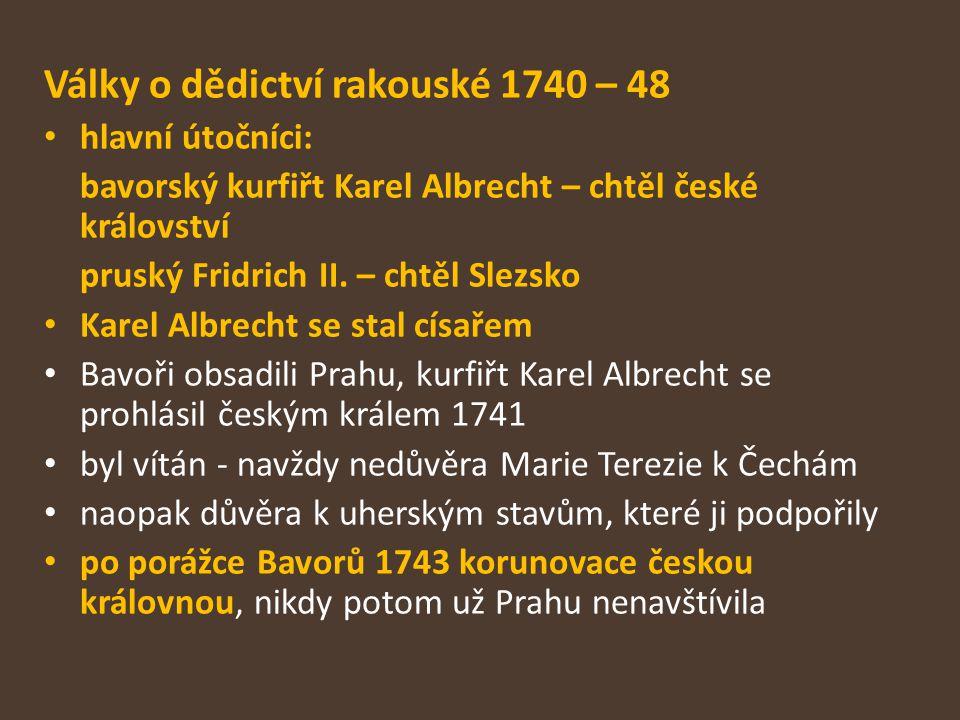 Války o dědictví rakouské 1740 – 48