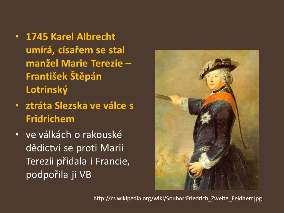 ztráta Slezska ve válce s Fridrichem