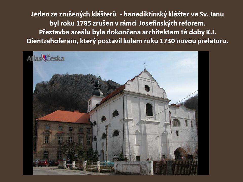Jeden ze zrušených klášterů - benediktinský klášter ve Sv