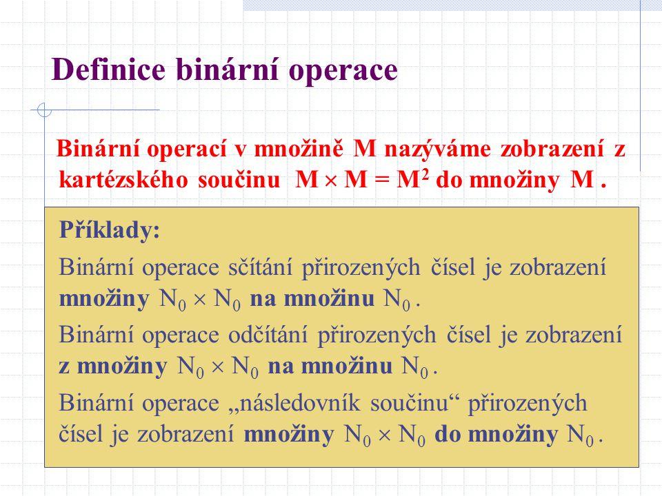 Definice binární operace