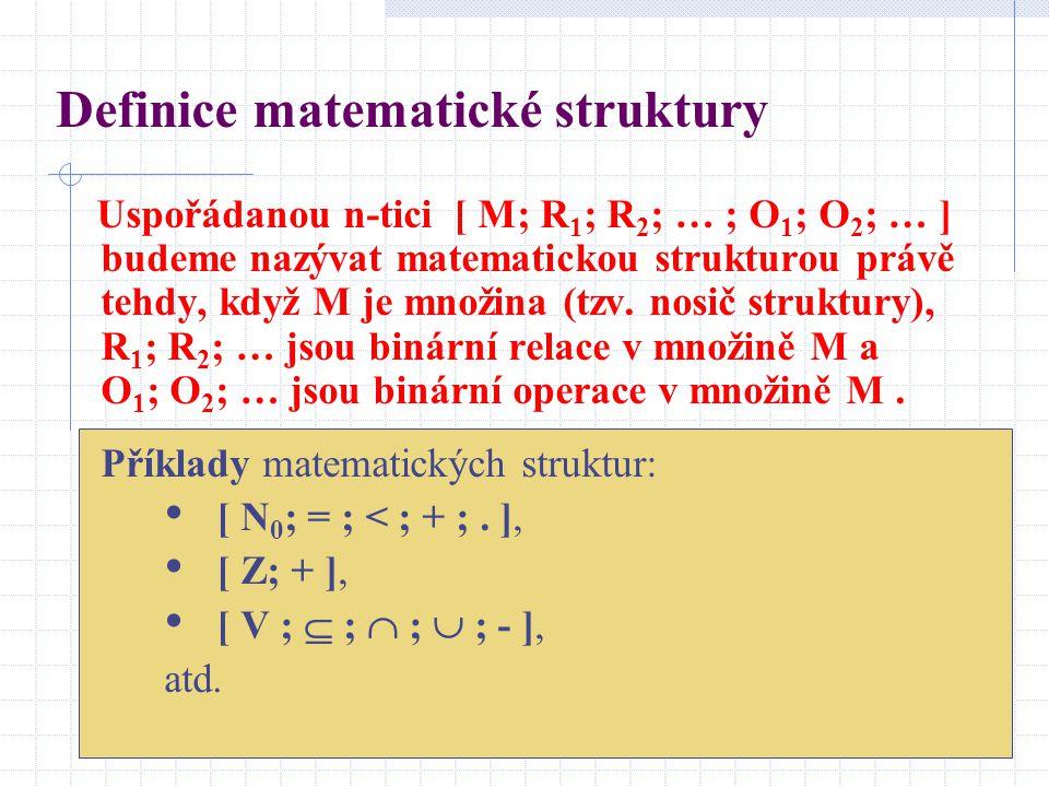 Definice matematické struktury