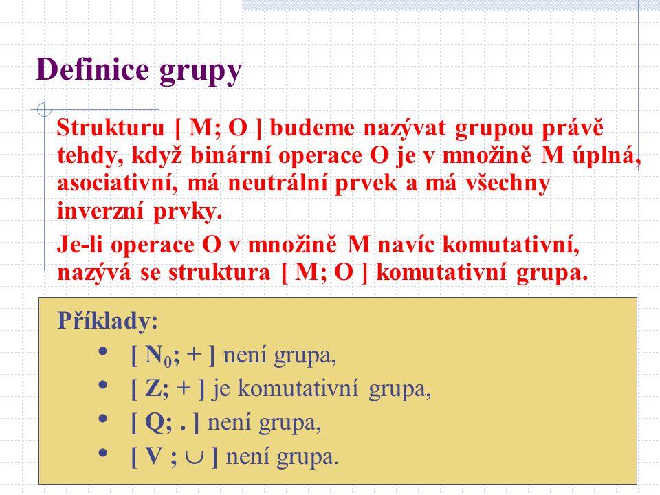 Definice grupy