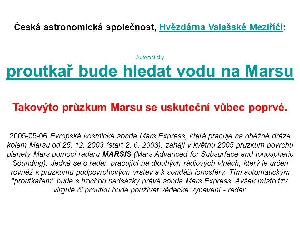 proutkař bude hledat vodu na Marsu