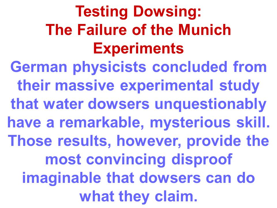 The Failure of the Munich Experiments
