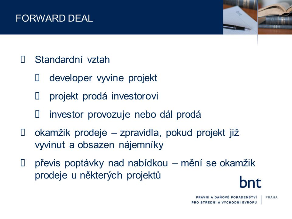 developer vyvine projekt projekt prodá investorovi