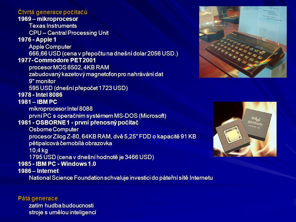 Čtvrtá generace počítačů