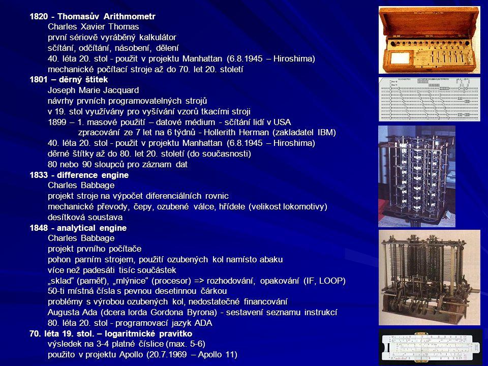 1820 - Thomasův Arithmometr