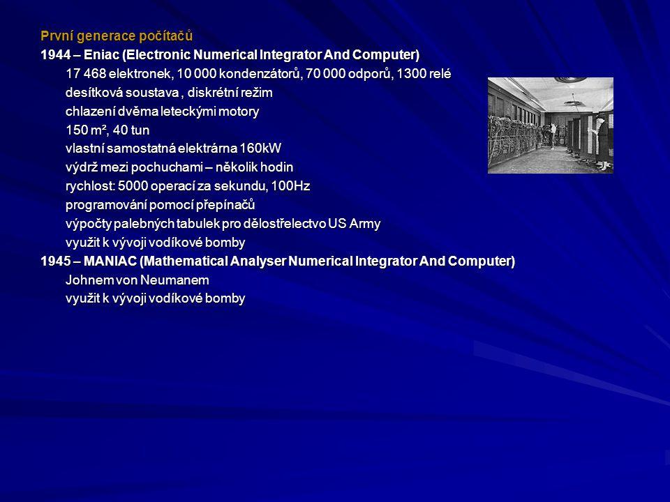 První generace počítačů