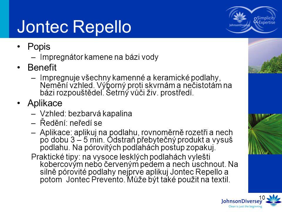 Jontec Repello Popis Benefit Aplikace Impregnátor kamene na bázi vody